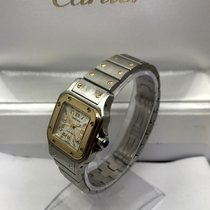 Cartier SANTOS W20057C4 2423 GALBEE BI METAL 18K GOLD AUTOMATI...