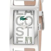 Lacoste Inspiration Stainless Steel White Womens Fashion Strap...