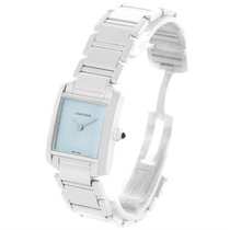 Cartier Tank Francaise Small 18k White Gold Blue Dial Ladies...