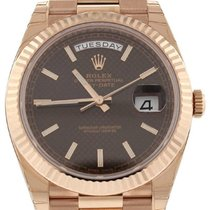 Rolex Day-Date 40mm Rosegold Chocolate  Dial  228235