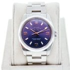 Rolex Airking 114200 Stainless Steel Blue Dial Watch