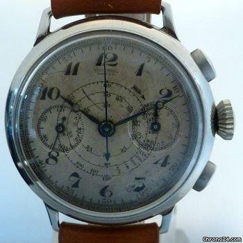 UNIVERSAL WATCH GENEVE vintage jumbo chronograph 1920-1930