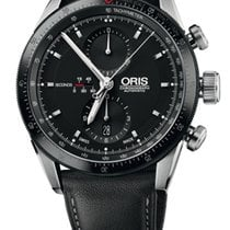 Oris Artix GT Chronograph, Black Dial, Leather Bracelet