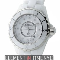 Chanel J12 White Ceramic 33mm Quartz White Diamond Dial Ref....