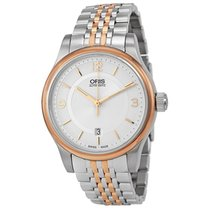 Oris Classic Date Silver Dial Two-tone Stainless Steel...