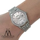 Rolex Watch- Datejust 16234 36mm - Silver Dial - Diamond Bezel...