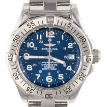 Breitling Superocean Automatic Chronometer Blue Dial Steel...