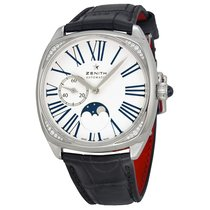 Zenith Elite Heritage Star Moonphase Silver Dial Brown Leather...