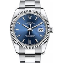 Rolex Oyster Perpetual Date 34 115234-BLUSFO Blue White Index...