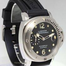Panerai Luminor Submersible 44mm Steel Mens Watch PAM 24 J...