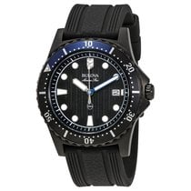 Bulova Marine Star Black Dial Mens Watch 98B159