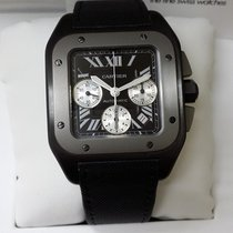 Cartier W2020005 Santos 100 XL Large Automatic Black Carbon [NEW]