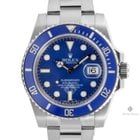 Ρολεξ (Rolex) Submariner White Gold Blue Dial Ceramic Blue...