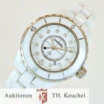Chanel J 12 Weiß Keramic Diamanten / white diamond dial