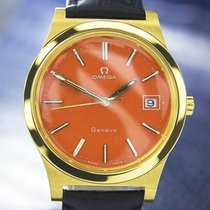 Omega Geneve Gold-plated Orange Dial Watch C.1968 (1132)
