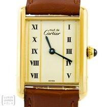 Cartier Uhr Tank 925 Silber vergoldet Unisex Quarz Revision...
