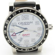 Graham Silverstone Gmt Automatic Date Silver Dial With Box...