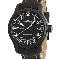 Fortis B-42 Flieger Black Automatic Day/Date Limited Edition...