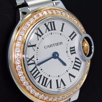 Cartier Ballon Bleu 28mm We902079 Fact 18k Rose Gold Diamond...
