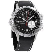Hamilton Men's H77612333 Khaki Eto Black Chronograph Dial...