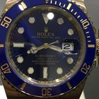 Rolex SUBMARINER CERAMIK YELLOW GOLD BLUE DIAL 5 YEARS WARRENTY