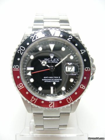 Rolex GMT Master II 16710 full steel/complet acier lunette noir et rouge cadran noir/black bezel