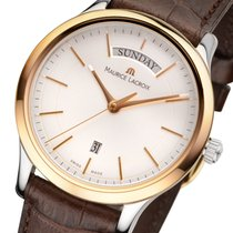 Maurice Lacroix Les Classiques Day/Date Stahl-Gold Herrenuhr