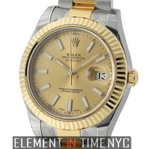 Rolex Datejust II Steel & Yellow Gold Champagne Index Dial...