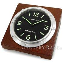 Panerai Table Clock Quartz Stainless Steel Wood 15CM