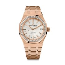 Audemars Piguet AP Royal Oak Lady 37mm Rose Gold with Diamond...