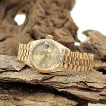 Rolex Lady Date Just 18Kt mit Diamant Besatz