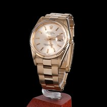 Rolex oyster date yellow gold men size