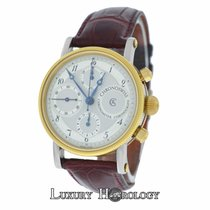 Chronoswiss Chronometer Chronograph Automatic Steel 18K Gold Wat