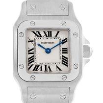 Cartier Santos Galbee Steel Quartz Ladies Watch W20056d6 Box...