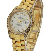 Rolex Used President Ladies with Diamond Bezel and Lugs