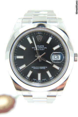 Rolex DATEJUST II,   NEW MODEL 41MM BLACK INDEX