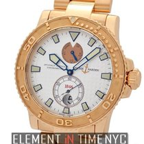 Ulysse Nardin Maxi Marine Diver 18k Rose Gold Chronometer Ref....