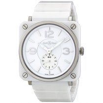 Bell & Ross Aviation 39 MM White Unisex Watch BRS-WH-CERAM...
