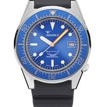 Squale 1521-026/A (50 atmos) blue - rubber strap