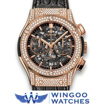 Hublot - Classic Fusion Aero King Gold Pavé Ref. 525.OX.0180.L...