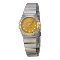 Omega Constellation Diamond Champagne Dial Ladies Watch...