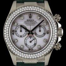 Rolex 18k W/G O/P Mother Of Pearl Dial Diamond Set Daytona 116589