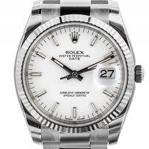 Rolex Oyster Perpetual Date Stahl Weißgold Automatik Armand...
