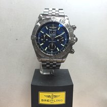 Breitling Blackbird 43mm Automatic Ref. A44359 with RARE Blue...