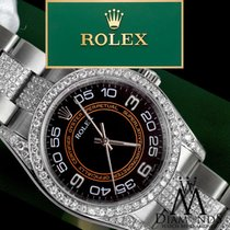 Rolex Oyster Perpetual 116000 No-date 36mm Black And Orange...