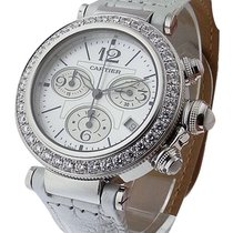 Cartier WJ130003 Pasha Seatimer Chronograph in White Gold with...