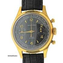 Wakmann 17 Jewels Vintage 36mm Chronograph Wrist Watch Incabloc