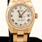 Rolex DateJust Lady 18K Rose Gold White Roman Numerals