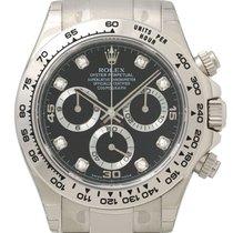 Rolex Daytona Cosmograph 18 kt Weißgold 116509 Schwarz Diamant