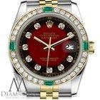 Rolex Women's Rolex 31mm Datejust 2 Tone Red Vignette...